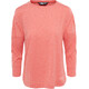 The North Face Inlux 3/4 Sleeve Top Women Fire Brick Red Heather